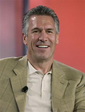 Michael Splinter, then President and CEO of Applied Materials Inc., smiles during a panel discussion at the Fortune Brainstorm Tech conference in Half Moon Bay, California in this file photo taken July 22, 2008. REUTERS/Kimberly White/Files
