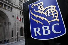 A Royal Bank of Canada (RBC) logo is seen at a branch in Toronto November 9, 2007. REUTERS/Mark Blinch