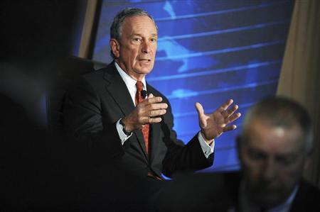 New York City Mayor Michael Bloomberg speaks during the meeting of the Wall Street Journal CEO Council in Washington, November 16, 2010. REUTERS/Jonathan Ernst