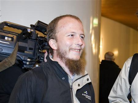 Gottfrid Svartholm Warg, the co-founder of Pirate bay, is pictured in Stockholm, February 16, 2009. REUTERS/Bertil Ericson/Scanpix Sweden
