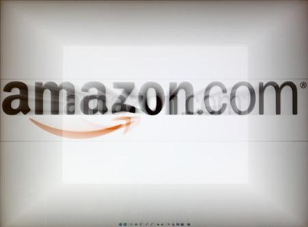 A zoomed image of a computer screen showing the Amazon logo is seen in Vienna November 26, 2012. REUTERS/Heinz-Peter Bade/Files