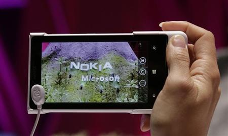 The new Nokia 1020 smartphone is on display at the Telekom booth during the opening day of the IFA consumer electronics fair in Berlin September 6, 2013. REUTERS/Tobias Schwarz