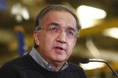 Chrysler Group Chairman and CEO Sergio Marchionne addresses the audience during a news conference at the Chrysler Mack I Engine Plant to announce a major financial investment and more jobs added to the engine plant in Detroit, Michigan in this file photo from November 15, 2012. REUTERS/Rebecca Cook/Files