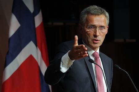 Norway's Prime Minister Jens Stoltenberg answers a question from the audience following his speech at the Kennedy School of Government at Harvard University in Cambridge, Massachusetts September 25, 2013. REUTERS/Brian Snyder