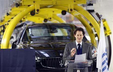 Fiat Chairman John Elkann speaks during the Maserati new opening plant in Turin, January 30, 2013. REUTERS/Stefano Rellandini