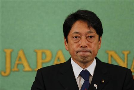 Japan's Defence Minister Itsunori Onodera attends a news conference at the Japan National Press Club in Tokyo September 3, 2013. REUTERS/Toru Hanai