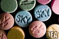 Ecstasy pills, which contain MDMA as their main chemical, are pictured in this undated handout photo courtesy of the United States Drug Enforcement Administration (DEA). REUTERS/U.S. DEA/Handout via Reuters