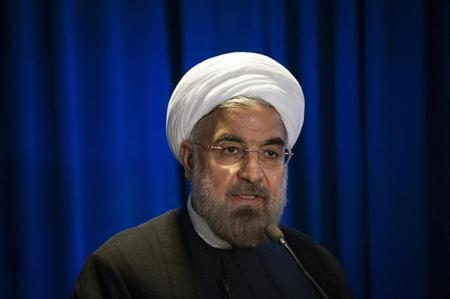 Iran's President Hassan Rohani speaks during an event hosted by the Council on Foreign Relations and the Asia Society in New York September 26, 2013. REUTERS/Keith Bedford