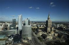 A general view of Warsaw city center and the Palace of Culture (R) is seen through the window of a hotel in Warsaw September 24, 2013. REUTERS/Kacper Pempel