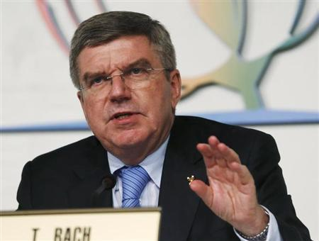 International Olympic Commitee (IOC) newly elected President Thomas Bach holds a news conference in Buenos Aires September 10, 2013. REUTERS/Enrique Marcarian