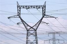 """Le prix auquel EDF vendra son énergie nucléaire à ses concurrents en 2014 devrait rester stable, selon le quotidien Le Figaro qui cité """"plusieurs sources concordantes"""". Le prix de 42 euros le mégawattheure en vigueur aujourd'hui avait été fixé par les pouvoirs publics en 2011. /Photo prise le 29 juillet 2013/REUTERS/Pascal Rossignol"""