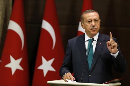Turkish Prime Minister Tayyip Erdogan addresses the media in Ankara September 30, 2013. REUTERS/Umit Bektas