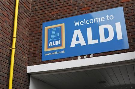 A branch of Aldi supermarket is seen in northwest London February 9, 2013. REUTERS/Suzanne Plunkett