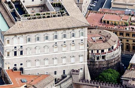An exterior view shows the tower of the Institute for Works of Religion (IOR), the Vatican bank, in Vatican City in this 2011 file photo. REUTERS/Stringer/Files