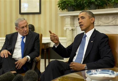U.S. President Barack Obama speaks alongside Israeli Prime Minister Benjamin Netanyahu in the Oval Office of the White House in Washington, September 30, 2013. REUTERS/Jason Reed