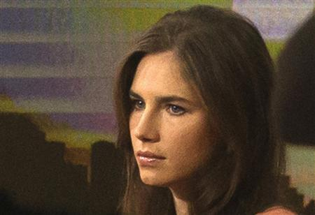 Amanda Knox looks on before speaking on NBC News' ''Today'' show in New York September 20, 2013. REUTERS/Brendan McDermid