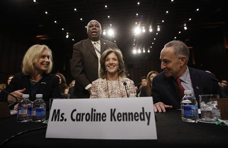Caroline Kennedy (C), daughter of former U.S. President John F. Kennedy, prepares to testify at her U.S. Senate Foreign Relations Committee hearing on her nomination as the U.S. Ambassador to Japan, on Capitol Hill in Washington, September 19, 2013. REUTERS/Jason Reed