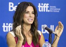 "Actress Sandra Bullock attends a news conference for the film ""Gravity"" at the 38th Toronto International Film Festival September 9, 2013. REUTERS/Fred Thornhill"