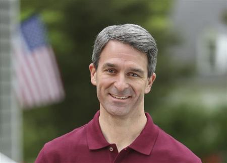 Ken Cuccinelli is seen in this undated file photo, courtesy of the Cuccinelli Campaign. Democrat Terry McAuliffe and Republican Cuccinelli, running against each other for the Virginia governorship, attacked each other on July 20, 2013 in their first debate, but both agreed the current governor should consider resigning over a gifts scandal. REUTERS/Cuccinelli Campaign/Handout/Files