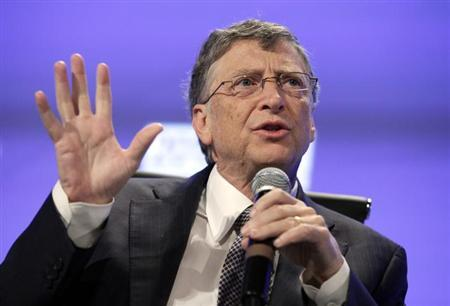 Bill Gates speaks during Peterson Institute 2013 Fiscal Summit on Facing the Future in Washington, May 7, 2013. REUTERS/Yuri Gripas/Files