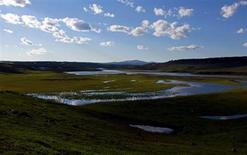 The Yellowstone River meanders through the Hayden Valley in Yellowstone National Park, Wyoming, June 21, 2011. REUTERS/Jim Urquhart