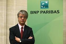 Jean-Laurent Bonnafé, directeur général de BNP Paribas, a déclaré que la banque française n'était pas intéressé par le rachat de Commerzbank et s'en tiendrait à ses projets de croissance organique en Allemagne. /Phot oprise le 31 juillet 2013/REUTERS/Benoît Tessier