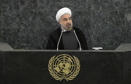 Iranian President Hassan Rouhani addresses a High-Level Meeting on Nuclear Disarmament during the 68th United Nations General Assembly at U.N. headquarters in New York, September 26, 2013. REUTERS/Mike Segar