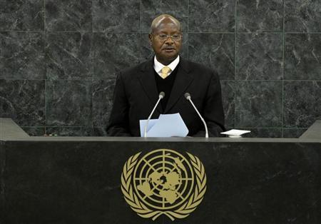 Uganda's President Yoweri Museveni addresses the 68th United Nations General Assembly at UN headquarters in New York, September 24, 2013. REUTERS/Justin Lane/Pool