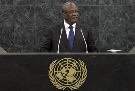 Ibrahim Boubacar Keita, President of Mali, addresses the 68th United Nations General Assembly at U.N. headquarters in New York, September 27, 2013. REUTERS/Andrew Burton/Pool