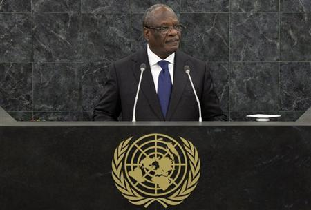 Ibrahim Boubacar Keita, President of Mali, addresses the 68th United Nations General Assembly at U.N. headquarters in New York, September 26, 2013. REUTERS/Andrew Burton/Pool