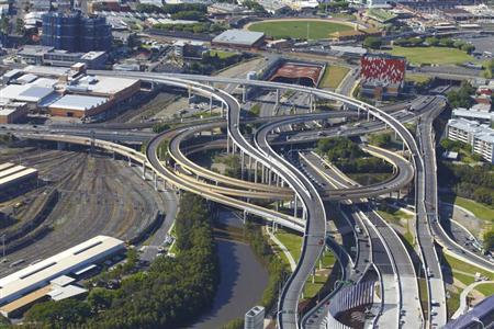 Handout photo of the Airport Link road and tunnel, a Leighton Holdings project, in Brisbane February 10, 2012. REUTERS/Leighton Holdings/Handout