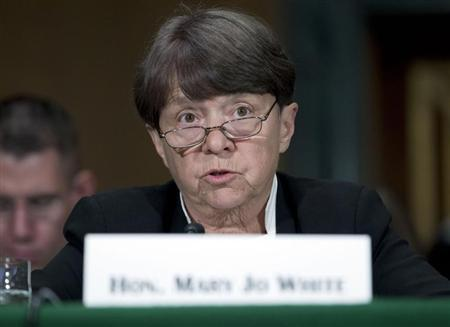 SEC Chair Mary Jo White testifies at a Senate Banking, Housing and Urban Affairs Committee hearing on Capitol Hill July 30, 2013. REUTERS/Jose Luis Magana