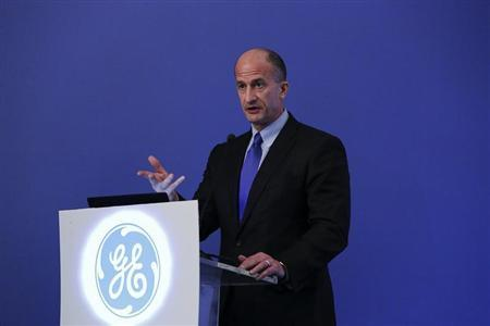 Vice Chairman of GE and CEO of GE's Global Growth and Operations John G. Rice speaks to reporters during a news conference in Mumbai May 17, 2013. REUTERS/Vivek Prakash