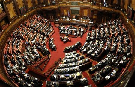 A general view shows the Upper house of the parliament in Rome, in this April 30, 2013 file picture. REUTERS/Giampiero Sposito/Files