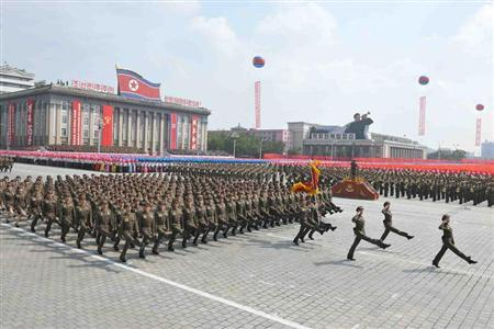 A view is seen of a parade of the Worker-Peasant Red Guards and a mass rally in Pyongyang September 9, 2013 in celebration of the 65th anniversary of North Korea in this picture released by the North's official KCNA news agency on Monday. REUTERS/KCNA