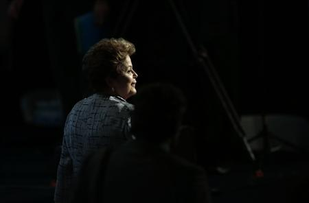 Brazil's President Dilma Rousseff leaves after attending the opening of the Third Global Conference on Child Labour in Brasilia October 8, 2013. REUTERS/Ueslei Marcelino
