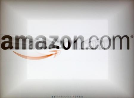 A zoomed image of a computer screen showing the Amazon logo is seen in Vienna November 26, 2012. REUTERS/Heinz-Peter Bader