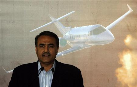 India's Civil Aviation Minister Praful Patel speaks during the inauguration ceremony of Hawker Beechcraft's first authorised service centre at the Indira Gandhi International airport in New Delhi February 28, 2008. REUTERS/Vijay Mathur