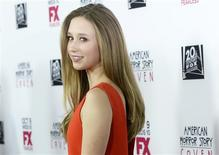 "Actress Taissa Farmiga arrives at the premiere of FX's ""American Horror Story: Coven"" at Pacific Design Center in West Hollywood, October 5, 2013. REUTERS/Kevork Djansezian"