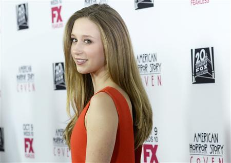 Actress Taissa Farmiga arrives at the premiere of FX's ''American Horror Story: Coven'' at Pacific Design Center in West Hollywood, October 5, 2013. REUTERS/Kevork Djansezian