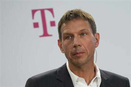 Deutsche Telekom CEO Rene Obermann attends a news conference to present a joint initiative for encrypted email with United Internet in Berlin August 9, 2013. REUTERS/Thomas Peter