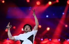 U.S. singer-sonwriter Justin Timberlake performs at the Rock in Rio Music Festival in Rio de Janeiro September 15, 2013. REUTERS/Ricardo Moraes
