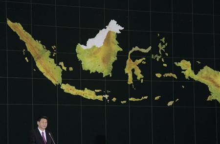 Chinese President Xi Jinping speaks to Indonesian parliament members in Jakarta, October 3, 2013. REUTERS/Supri