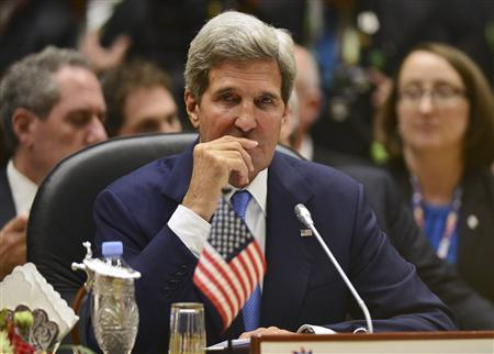 U.S. Secretary of State John Kerry attends the 1st ASEAN-US Summit in Bandar Seri Begawan October 9, 2013. REUTERS/Ahim Rani