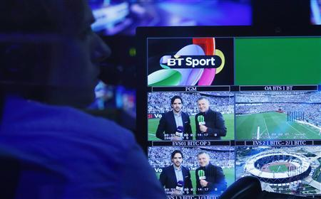 A production staff member works in the gallery during the BT Sport channel launch program at the BT Sport studio in the Queen Elizabeth Olympic Park, in east London August 1, 2013. REUTERS/Suzanne Plunkett
