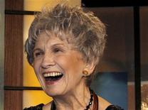File photo of Canadian writer Alice Munro smiling at the end of the Giller awards ceremony in Toronto in this November 6, 2007.REUTERS/Mike Cassese/Files