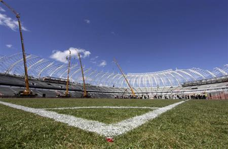 A view is seen of the construction of the Beira-Rio Stadium in Porto Alegre, October 7, 2013. REUTERS/Edison Vara
