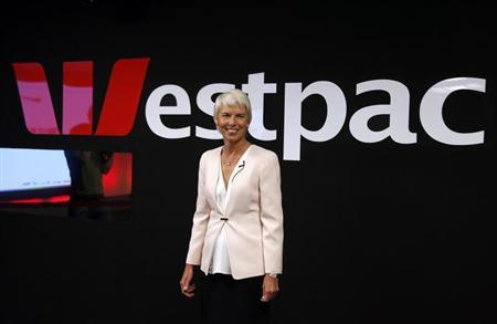 Westpac Banking Corp Chief Executive Officer Gail Kelly smiles as she arrives for a media conference in Sydney May 3, 2013. REUTERS/David Gray