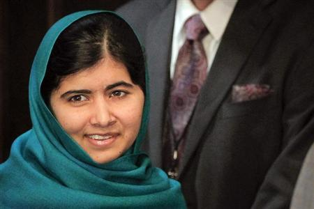 Pakistan's Malala Yousafzai arrives for a photo opportunity before speaking at an event in New York, October 10, 2013. REUTERS/Shannon Stapleton