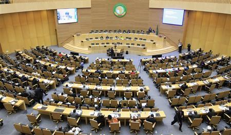 A general view shows the opening session of Heads of States and Government of the African Union on the case of African relationship with the International Criminal Court (ICC) in Ethiopia's capital Addis Ababa, October 11, 2013. REUTERS/Tiksa Negeri